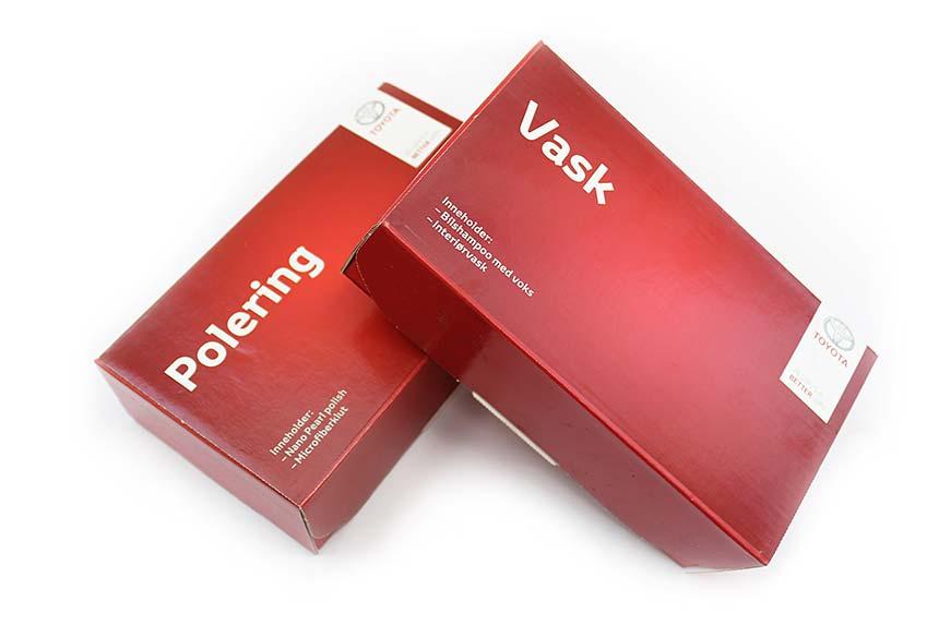 POLERING inneholder Nano Pearl polish og mikrofiberklut kr 294,- VASK inneholder bilshampoo med voks og interiørvask kr 252,-